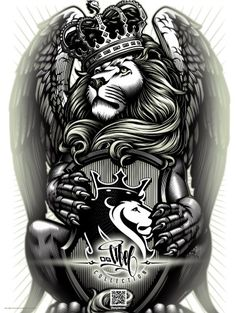 OGABEL.COM - Crowned Lion Poster, $9.95 (http://www.shopogabel.com/crowned-lion-poster/)