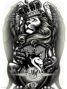 OGABEL.COM - Crowned Lion Poster, $9.95 (http://www.shopogabel.com/crowned-lion-poster/)