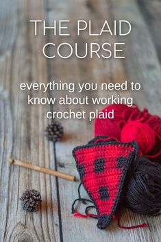 Crochet For Beginners Learn to Crochet Plaid with this Online Course - Check out these resources for improving your crochet technique and advancing your crochet skill level. Online crochet clases, book, free tutorials and more! Plaid Crochet, Crochet Motifs, Crochet Mittens, Crochet Stitches Patterns, Crochet Gifts, Free Crochet, Knitting Patterns, Knit Crochet, Crochet Pattern