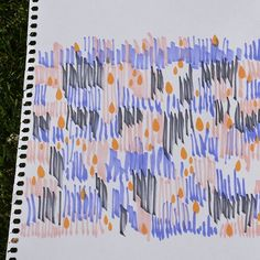 Working in a new pattern with markers. I love this colors. Surface Design, Summer Time, Markers, Pattern Design, Sketch, My Love, Colors, Drawings, Instagram Posts
