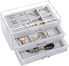 KentopVelours Bo/îte de Rangement Bijoux pour Bagues Pendentif /Écrin pour Alliances de Mariage Fian/çailles Earrings Jewelry Box