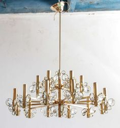 Sciolari Faceted Crystal Chandelier | From a unique collection of antique and modern chandeliers and pendants  at https://www.1stdibs.com/furniture/lighting/chandeliers-pendant-lights/