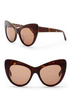 0267f1675d1 Image of Stella McCartney 53mm Chain Cat Eye Sunglasses Stella Mccartney