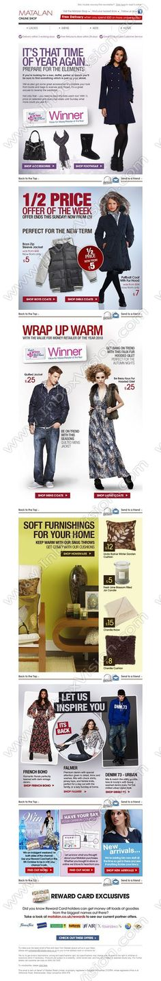 Company:  Matalan Plc Subject:  Autumn Fashion Fix: 1/2 price kids coats and the return of the Falmer Jean                INBOXVISION providing email design ideas and email marketing intelligence.    www.inboxvision.com/blog/  #EmailMarketing #DigitalMarketing #EmailDesign #EmailTemplate #InboxVision  #SocialMedia #EmailNewsletters