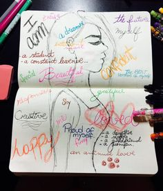 August | Bullet journal | #‎RockYourHandwriting‬ – Day 1: I am the Best Version of Myself!