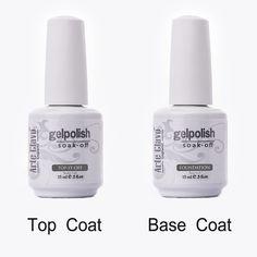 ARTE CLAVO 15 ml di Alta Qualità 1 x Top Coat e Strato di Base di Primer Gel UV Nail Art Polacco di Chiodo Del Gel di Arte Del Chiodo Del Gel Del Costruttore Set