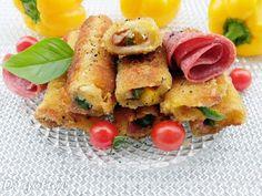 Di gotuje: Krokiety/roladki z chleba tostowego (z serem, sala...