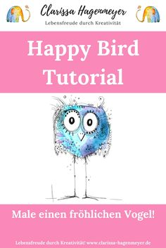 Dein Minikurs Happy Bird: Malen mit Freude – mit Learn how to paint a watercolor for beginners, quite simply: Draw a Happy Bird with me in my free mini-course: I'll show you that EVERYONE can paint – and how much fun that is! Doodle Art Drawing, Doodle Sketch, Painting & Drawing, Art Drawings, Drawing Ideas, Doodle Art Letters, Doodle Art Journals, Web Paint, Doodle Art For Beginners