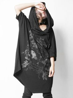 CDJapan : MIRROR HOOD BIG Dolman Cutsew (F) SA68327-101 SEX POT ReVeNGE APPAREL