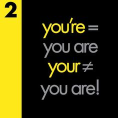 You're vs Your Grammar Mistake