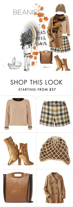 """Bad hair day"" by no-where-girl ❤ liked on Polyvore featuring River Island, Alice + Olivia, Gianvito Rossi, Opening Ceremony, Maje, Uniqlo, Wilsons Leather and beanies"