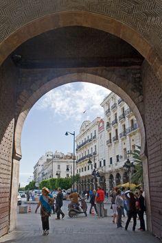 A normal working day in the historic Sea Gate, Meriportti , Tunis Tunisia Photo By Aili Alaiso Finland