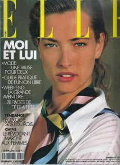 Photo of German fashion model Tatjana Patitz. Tatjana Patitz, Fashion Magazine Cover, Fashion Cover, Magazine Covers, 1. Mai, Elle Spain, Elle Us, Original Supermodels, Vogue Beauty