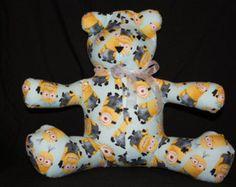 Minions Share-A-Bear - Edit Listing - Etsy Scary Kids, Very Scary, Cute Bears, Backrest Pillow, Minions, Dinosaur Stuffed Animal, Children, Animals, Etsy