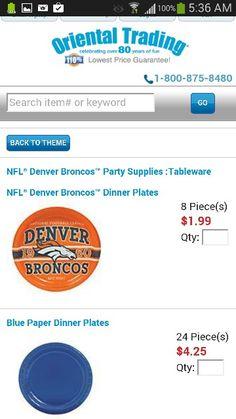 Denver Broncos Birthday Plates Best Deal Online