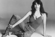 March The debut single from Kate Bush, 'Wuthering Heights' a song inspired by the Emily Bronte novel, started a four-week run at on the UK singles chart. Wuthering Heights, Kate Bush Babooshka, Simply Image, Uk Singles Chart, Women Of Rock, Emily Bronte, Female Singers, Record Producer, Celebs
