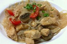 Makaron Sojowy z Kurczakiem i Warzywami Japchae, Ethnic Recipes