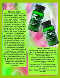Is your multi vitamin/mineral supplement working out? Is it really made with the superior quality nutrients you thought it was? Contact me with questions http://becomingmorewithplexus.com/ Ambassador # 369555 Facebook: www.facebook.com/julielynchplexus