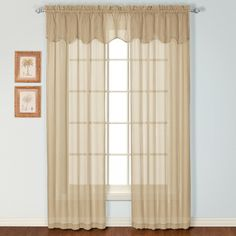 Charleston semi sheer curtains have a woven linen look. These discounted casual curtains are light & airy and will brighten any room.  #Rod #Pocket #Curtains