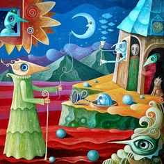 Surreal Paintings by Leszek Kostuj http://www.cruzine.com/2013/08/28/surreal-paintings-leszek-kostuj/