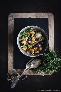 Salade van freekeh met geroosterde groenten en sinaasappel  Bijzonder Spaans