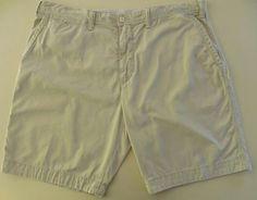 POLO Ralph LAUREN Shorts 41 BEIGE Flat FRONT Logo DRAWSTRING Sand TAN Men SIZE…
