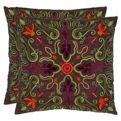 Kaylee Pillow  in Brown (Set of 2)