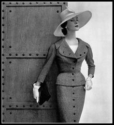 Myrtle Crawford in Jacques Fath, photo by Philippe Pottier, 1954