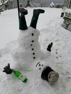 Ireland is covered in snow. Here is a picture of an Irish Snowman!!!