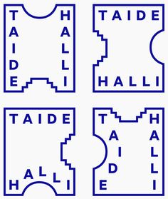 Logo designed by Tsto for Finnish contemporary art gallery Taidehalli