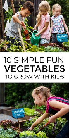These 10 fun vegetables to grow with kids make brilliant kids gardening projects that left them have lots of outdoor fun in the garden and learn plant science basics including plant life cycles and pollination. #gardeningwithkids #kidsgardening #growingvegetables #plantlifecycle #kidsgardeningprojects