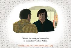 """<b>Josh Cooley turned your favorite filthy films into an illustrated book, <a href=""""http://amzn.com/1452122334"""" target=""""_blank""""><i>Movies R Fun</i></a>.</b> All photos from his <a href=""""http://go.redirectingat.com?id=74679X1524629&sref=https%3A%2F%2Fwww.buzzfeed.com%2Frachelzarrell%2Fthis-pixar-artist-drew-r-rated-film-scenes-and-turned-it-int&url=http%3A%2F%2Fwww.cooley.bigcartel.com&xcust=3014460%7CBFLITE&xs=1"""" target=""""_blank"""">website</a>."""