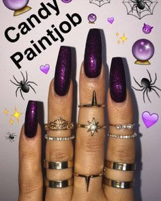 ✨WITCHY, WITCHY WOMAN @victoriaoliviaxo IN OUR NEW HOLIDAZE16 SHADE CANDY PAINT JOB TWO COATS FOR FULL COVERAGE! SHOP LINK IN BIO!!! ✨