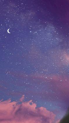 Purple Aesthetic Wallpaper Moon 68 New Ideas Night Sky Wallpaper, Cloud Wallpaper, Wallpaper Space, Purple Wallpaper, Scenery Wallpaper, Aesthetic Pastel Wallpaper, Tumblr Wallpaper, Cute Wallpaper Backgrounds, Wallpaper Iphone Cute