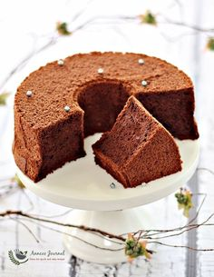 This Japanese Dark Pearl cake is soft and moist. rich and chocolately due to the dark chocolate and cocoa powder but with little flour.