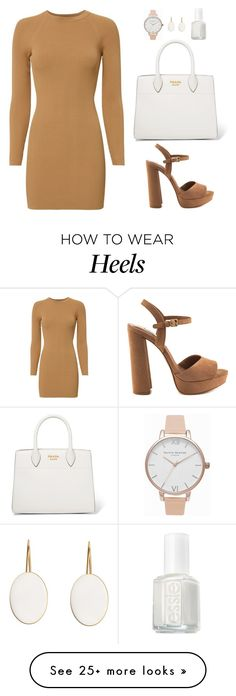 """""""Untitled #478"""" by hayleyl22 on Polyvore featuring A.L.C., Steve Madden, Prada, Essie and Olivia Burton"""