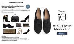 #Maryl 7, #francesina in #camoscio con inserto #glitterato sul puntale, tacco 3 cm e dettaglio in metallo lucido - #shoes #Stonefly #fw14