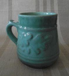 Mug With Oak Leaves By Jelgavas Keramika