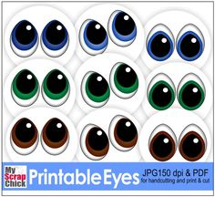 Free Printable Eyes: click to enlarge