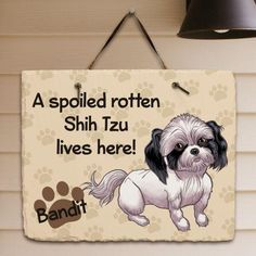 Personalized Shih Tzu Slate Plaque