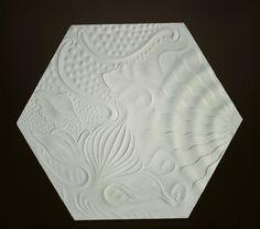Barcelona Hexa-Spiral pavement Symbol. Single Tile