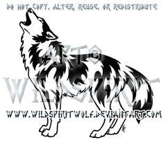 Victorious Howl Tribal Wolf Design by WildSpiritWolf.deviantart.com on @deviantART
