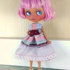 Blythe dress, Blythe clothes, purple vintage outfit for Neo Blythe Nice Dresses, Harajuku, Vintage Outfits, Barbie, Dolls, Purple, Handmade, Etsy, Clothes
