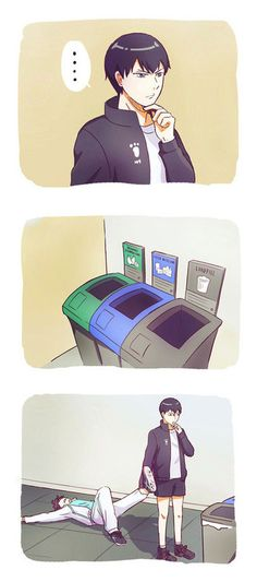 """""""He's the trash KING, kageyama. You need a bigger trash bin."""" by anything-but-regular ❤ liked on Polyvore featuring accessories"""