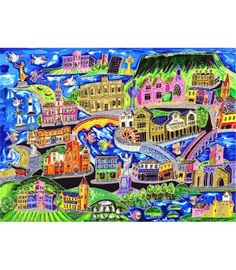 Artist Simone Walshe depicts famous Sligo landmarks and cultural icons in her humorous and inimitable style with this beautiful framed art print. Framed Art Prints, Fine Art Prints, Social Media Pages, Ireland, December, Artist, Artwork, Products, Work Of Art
