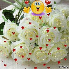 State of Love : Photo Happy Birthday Celebration, Happy Birthday Cakes, Happy Birthday Wishes, Birthday Greetings, Love You Gif, Cute Love Gif, Beautiful Red Roses, Beautiful Gif, Good Morning Flowers Gif