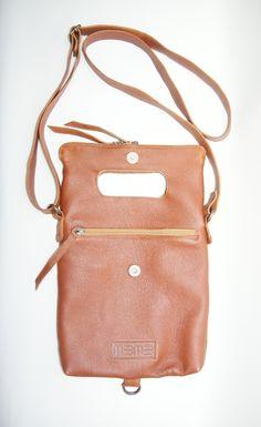 Leather shoulderbag for i-pad