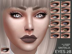 12 colors  Found in TSR Category 'Sims 4 Female Costume Makeup'