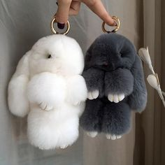 Rabbit PomPom Keychain - Please allow up to 21 days for shipping