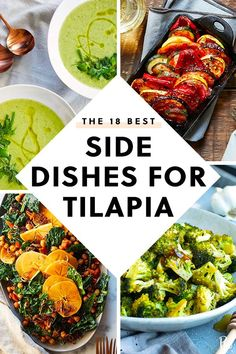 The 18 Best Side Dishes for Tilapia Side Dishes For Salmon, Low Carb Side Dishes, Best Side Dishes, Veggie Side Dishes, Healthy Side Dishes, Fish Dinner, Seafood Dinner, Side Dishes, Cauliflowers
